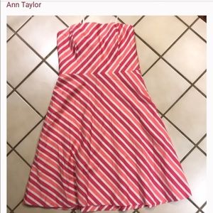Ann Taylorstriped strapless sundress!